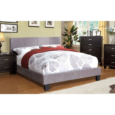Upholstered Platform Bed Size: Twin, Color: Gray