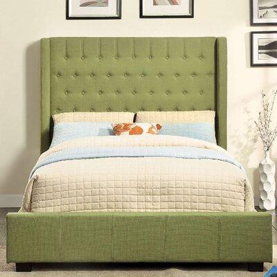 Upholstered Platform Bed Size: Full, Upholstery: Green