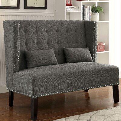 Ziva Loveseat Upholstery: Gray
