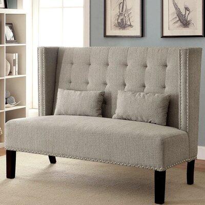 Ziva Loveseat Upholstery: Beige