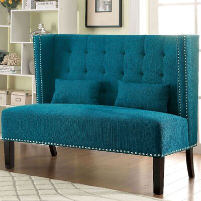 A&J Homes Studio 62WF2A6JTEAL Ziva Loveseat Upholstery
