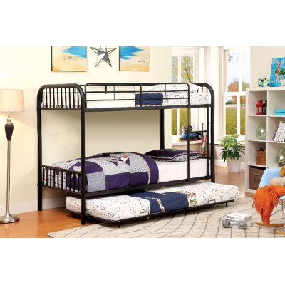 Cadee Twin Bunk Bed Finish: Black