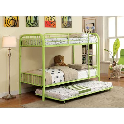 Cadee Twin Bunk Bed Finish: Green