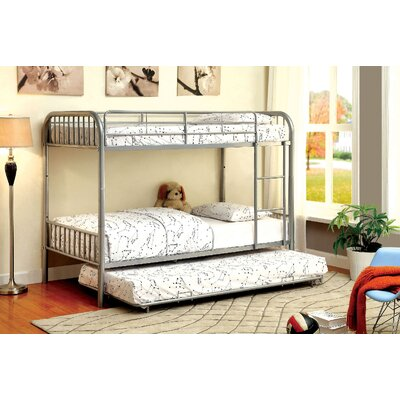 Cadee Twin over Twin Bunk Bed Color: Silver