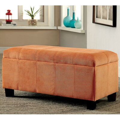 Cosimo Ottoman Upholstery Color: Orange