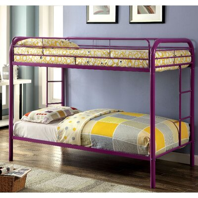 Caia Twin Bunk Bed Finish: Purple