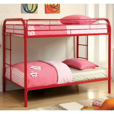 Caia Twin Bunk Bed Finish: Red