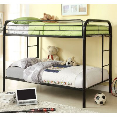 Caia Twin Bunk Bed Finish: Black