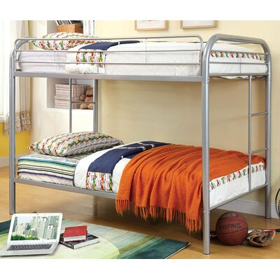 Caia Twin Bunk Bed Finish: Silver