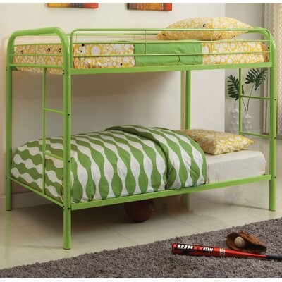 Caia Twin Bunk Bed Finish: Green