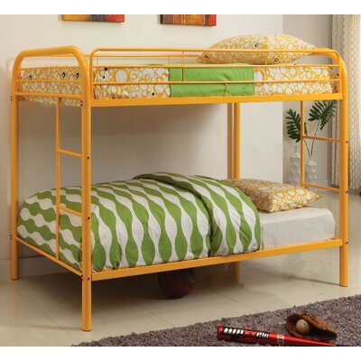 Caia Twin Bunk Bed Color: Orange