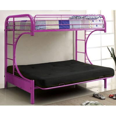 Freesia Double Bunk Bed Color: Purple