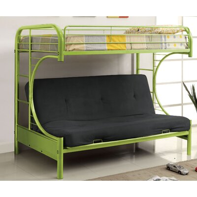 Freesia Double Bunk Bed Color: Green