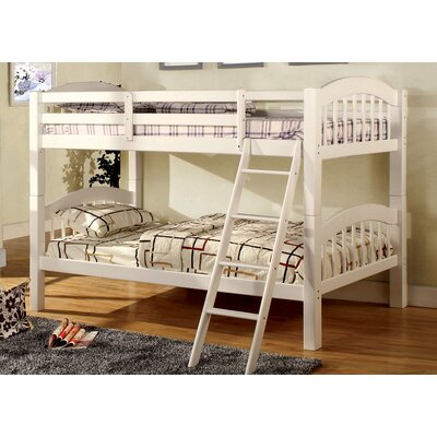 Heather Twin Over Twin Bunk Bed Color: White