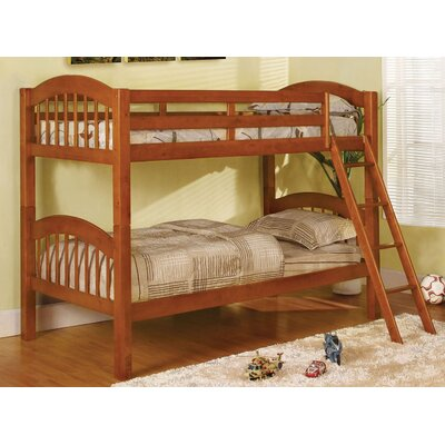Heather Twin Over Twin Bunk Bed Color: Oak