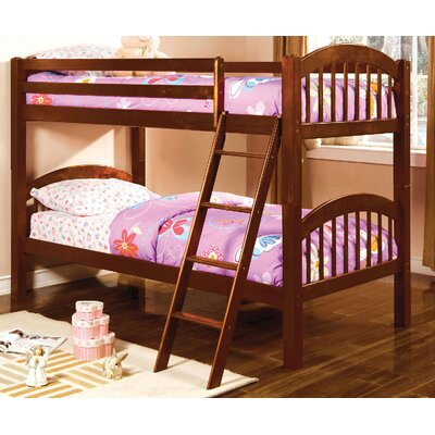 Heather Twin Over Twin Bunk Bed Color: Cherry