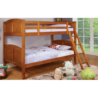 Azalea Twin Over Twin Bunk Bed Color: Oak