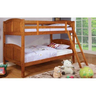 Azalea Twin Over Twin Bunk Bed Color: Oak