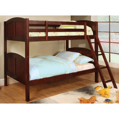 Azalea Twin Over Twin Bunk Bed Color: Cherry