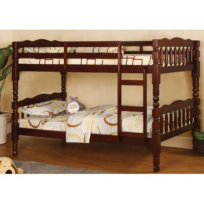Aster Twin Bunk Bed Color: Cherry