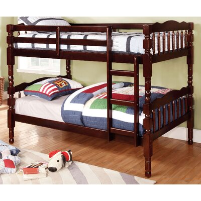 Aster Twin Bunk Bed Color: Dark Walnut