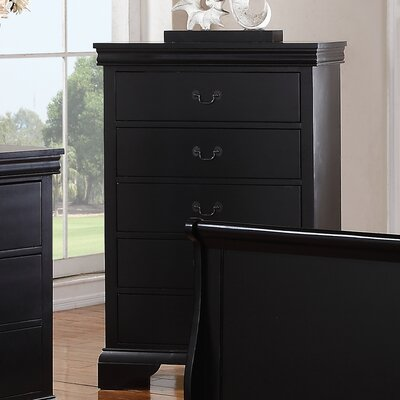 Venice 5 Drawer Chest Color: Dark Espresso