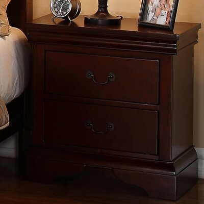 Venice 2 Drawer Nightstand Color: Brown