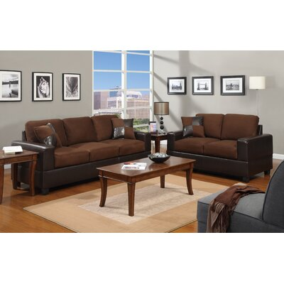 Redondo 2 Piece Sofa and Loveseat Set Color: Chocolate