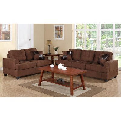 Biola 2 Piece Living Room Set Color: Chocolate