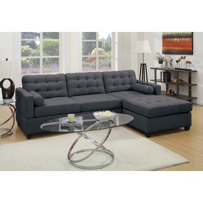 A&J Homes Studio 7WF5A8J7DGRAY Beverly Reversible Chaise Sectional
