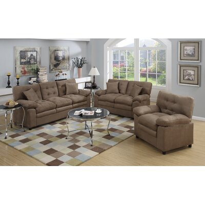 Halifax 3 Piece Living Room Set Color: Light brown