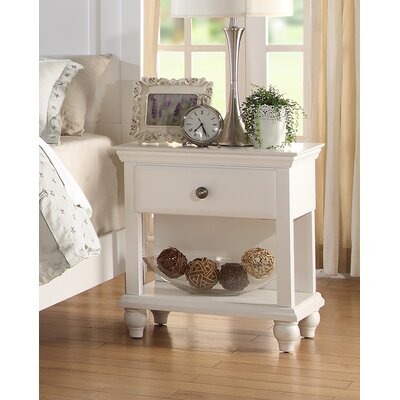 Laguna 1 Drawer Nightstand Color: White