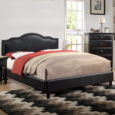 Laguna Upholstered Platform Bed Size: California King, Color: Black