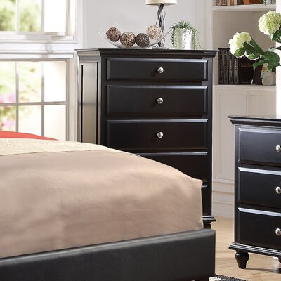 Laguna 5 Drawer Chest Color: Black