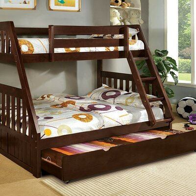 Carrie Twin over Full Bunk Bed Finish: Dark Walnut