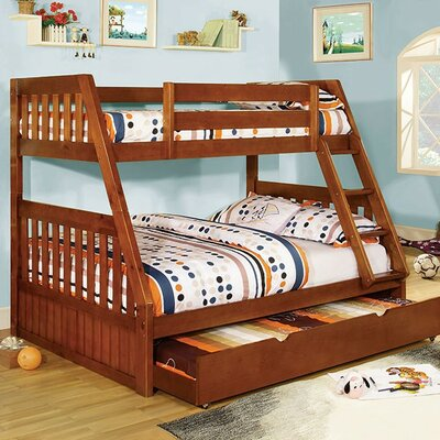 Carrie Twin over Full Bunk Bed Color: Oak
