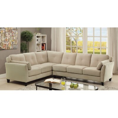 Kimmy Sectional Upholstery: Beige
