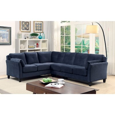 Kimmy Sectional Upholstery: Navy