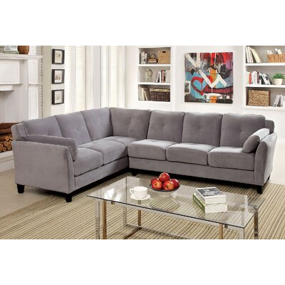 Kimmy Sectional Upholstery: Gray