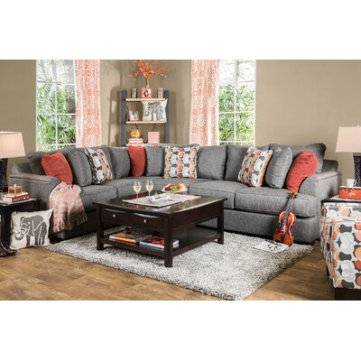 Katherine Sectional Upholstery: Dark Gray