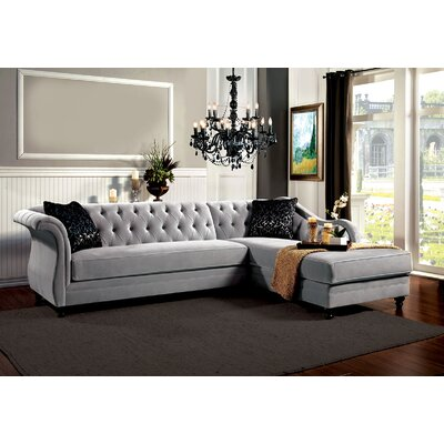 Angela Sectional Upholstery: Gray