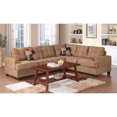 Terry Reversible Chaise Sectional Color: Sand