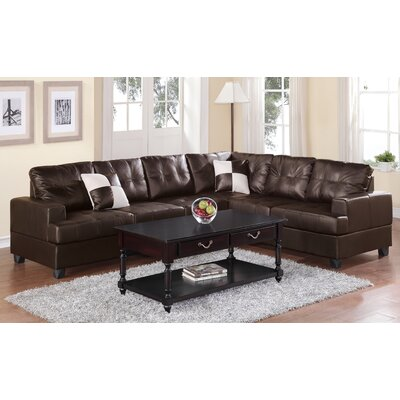Terry Reversible Sectional Color: Espresso