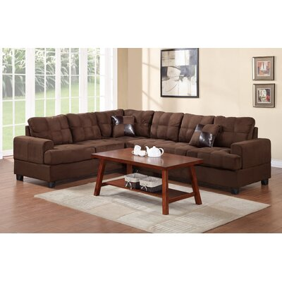 Terry Reversible Sectional Color: Chocolate