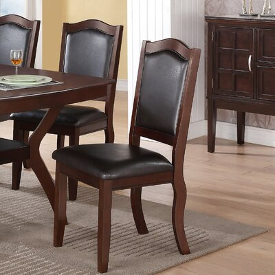 Wegman Side Chair Upholstery Color: Black