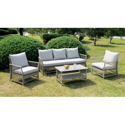 Vera 4 Piece Sofa Seating Group with Cushion