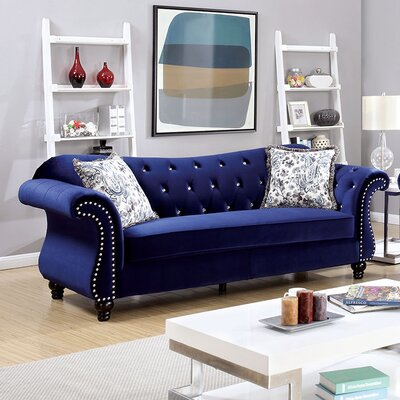 Jolly Sofa Color: Blue