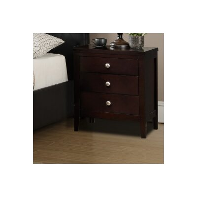 Jakayla 3 Drawer Nightstand