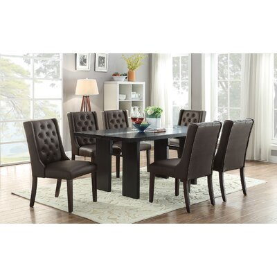 Fenway 7 Piece Dining Set Upholstery: Espresso