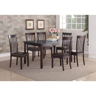 Longwood 7 Piece Dining Set Upholstery: Espresso